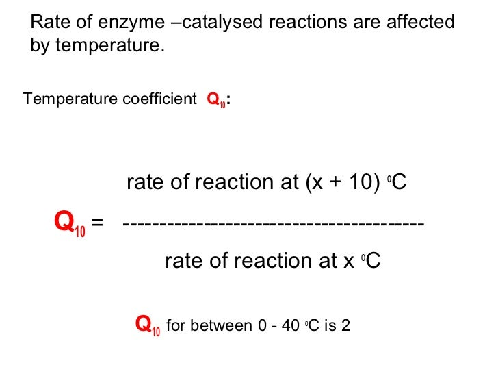Image result for temperature coefficient enzymes