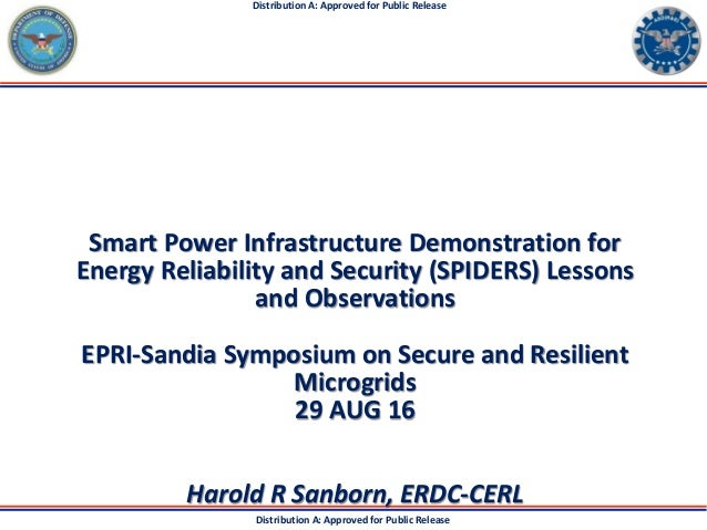 Distribution A: Approved for Public Release Distribution A: Approved for Public Release Smart Power Infrastructure Demonst...