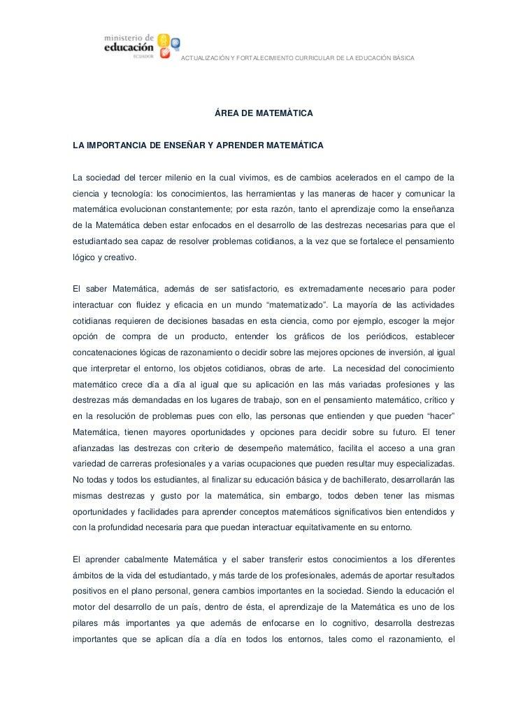 ACTUALIZACIÓNYFORTALECIMIENTOCURRICULARDELAEDUCACIÓNBÁSICA                                             ÁREADEMATE...