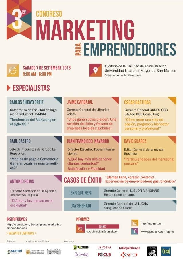 3er Congreso de Marketing para Emprendedores