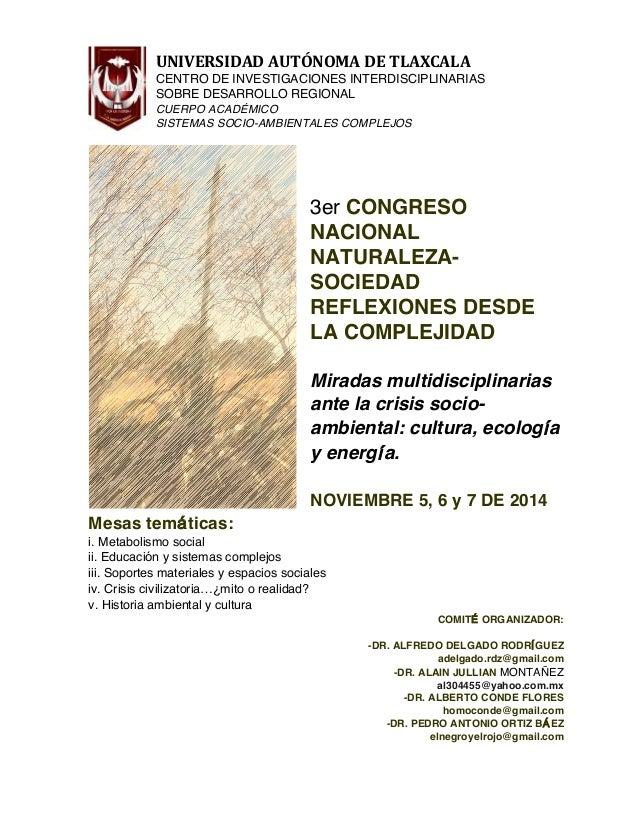UNIVERSIDAD  AUTÓNOMA  DE  TLAXCALA     CENTRO DE INVESTIGACIONES INTERDISCIPLINARIAS SOBRE DESARROLLO REGIONAL ...