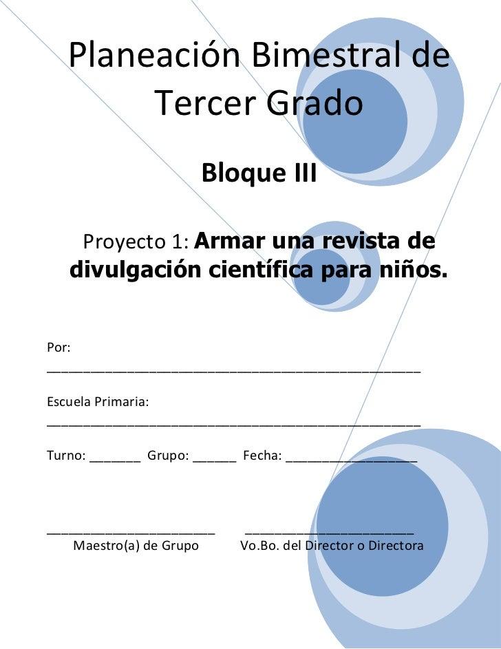 3er grado   bloque 3 - proyecto 1