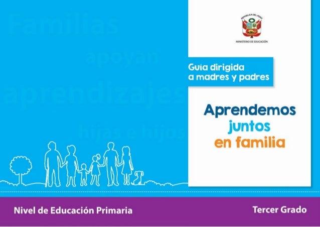 3er grado guía dirigida a madres y padres de familia para mejorar l…