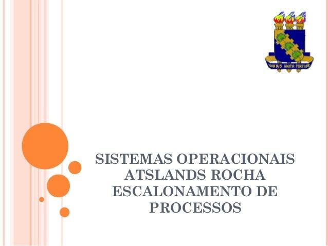 SISTEMAS OPERACIONAIS ATSLANDS ROCHA ESCALONAMENTO DE PROCESSOS
