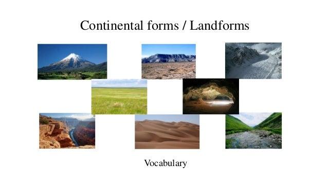 Continental forms / Landforms Vocabulary