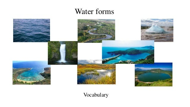 Water Forms 3 Eso on Eso Vocabulary