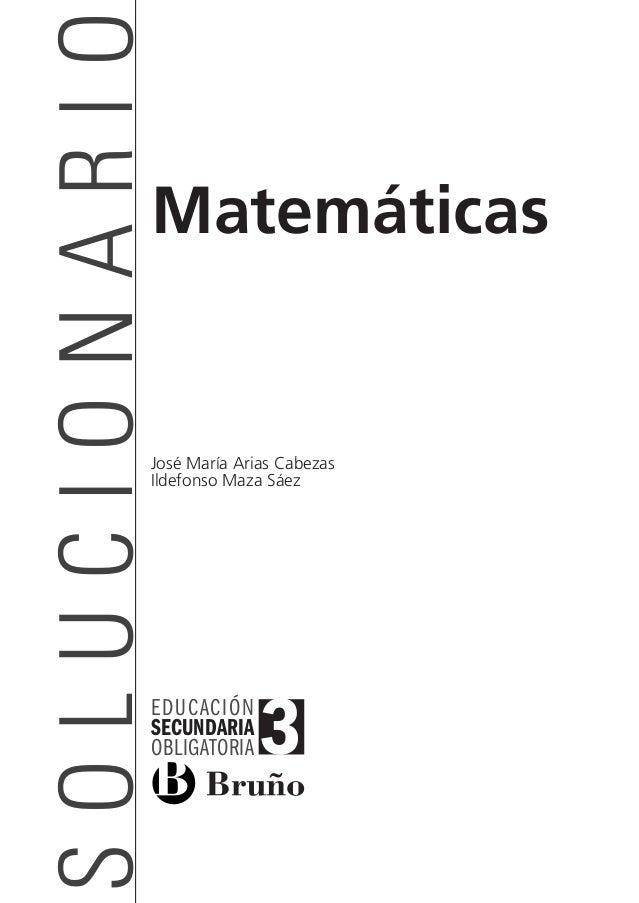 Mates3eso_SOL_00   16/03/11   08:53   Página 1          SOLUCIONARIO                              Matemáticas             ...