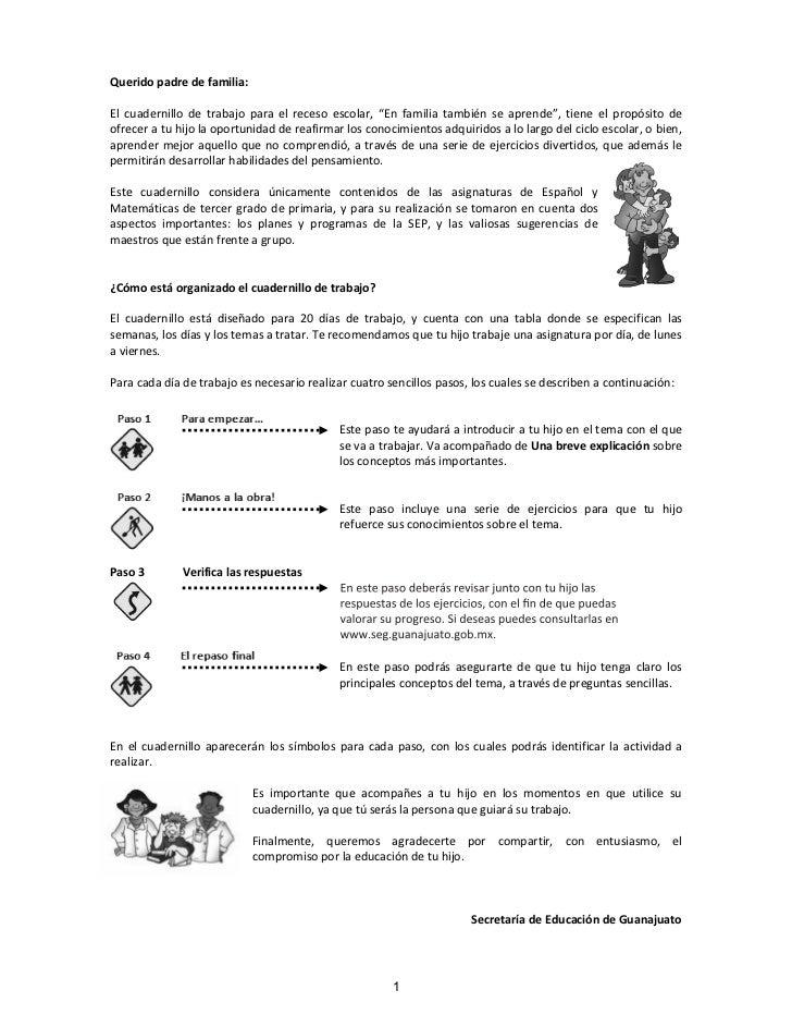 3º Espanol Y Matematicas