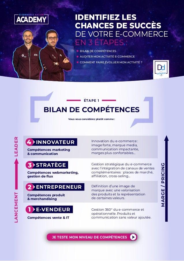 IDENTIFIEZ LES CHANCES DE SUCCÈS DE VOTRE E-COMMERCE EN 3 ÉTAPES : BILAN DE COMPÉTENCES AUDITER MON ACTIVITÉ E-COMMERCE CO...