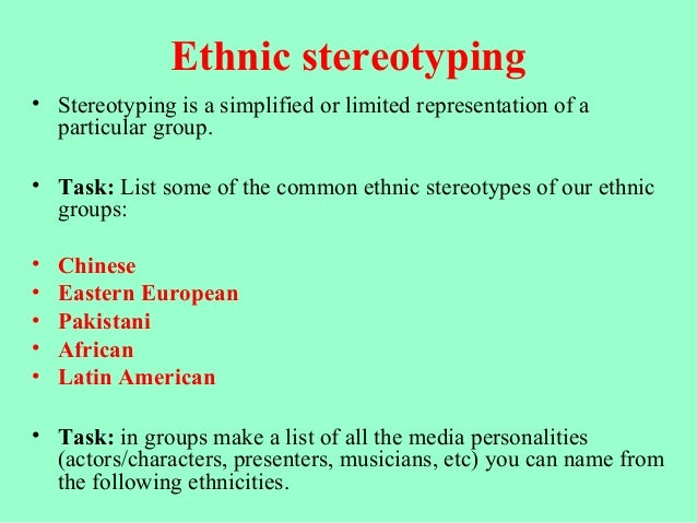 racial stereotypes and three racial paradigms Social categorization and stereotyping  presentation of three male and three female  girls and also have developed stereotypes about age, race,.