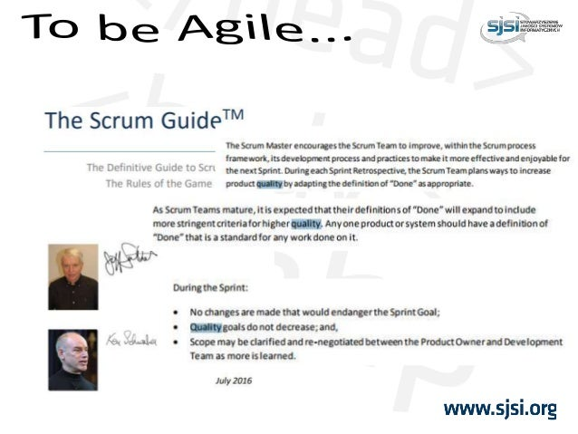 I was asked to implement a QMS for Agile project...