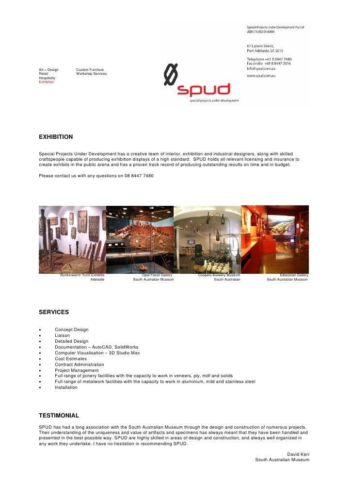 Art + Design             Custom Furniture Retail                   Workshop Services Hospitality Exhibition     EXHIBITION...
