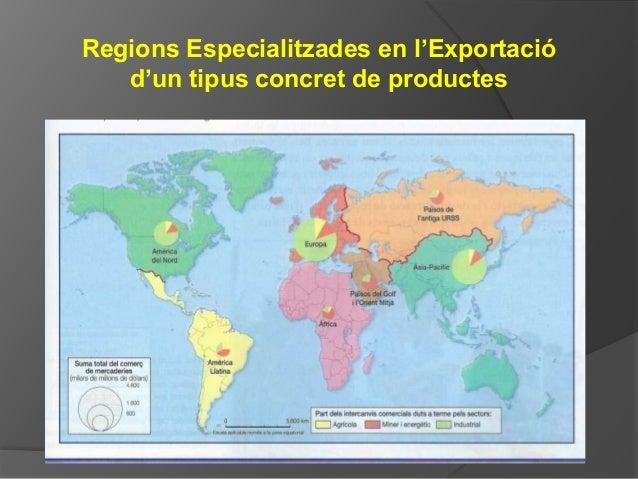 Regions Especialitzades en l'Exportació d'un tipus concret de productes