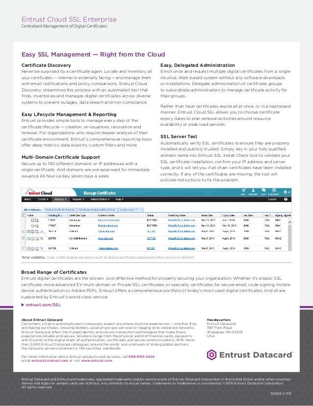 Entrust Datacard Ssl Cloud Portal