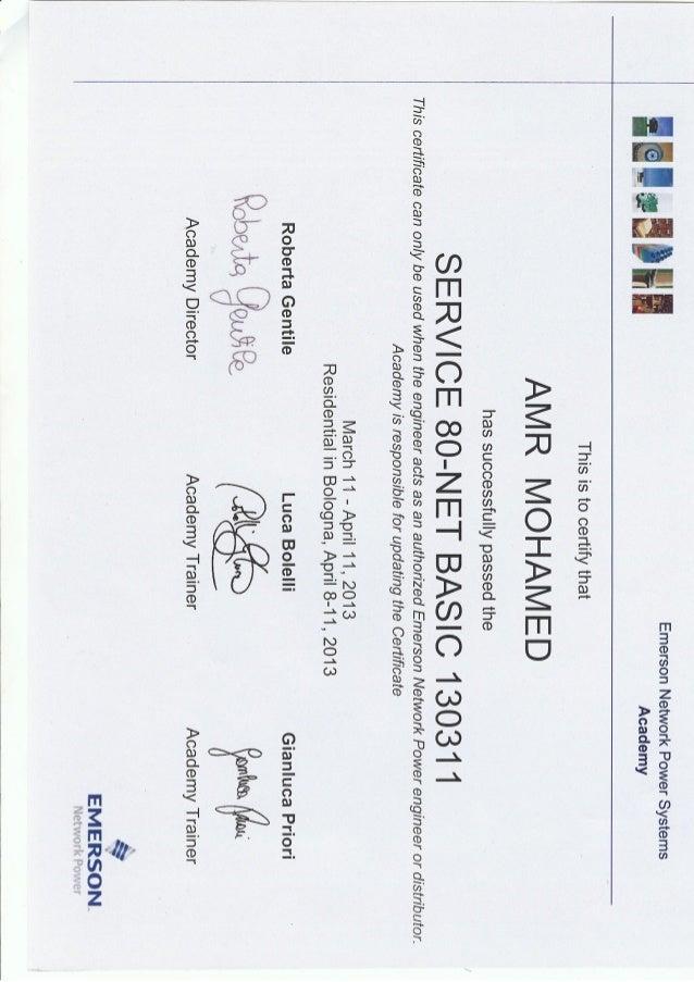 Chloride UPS Certificates