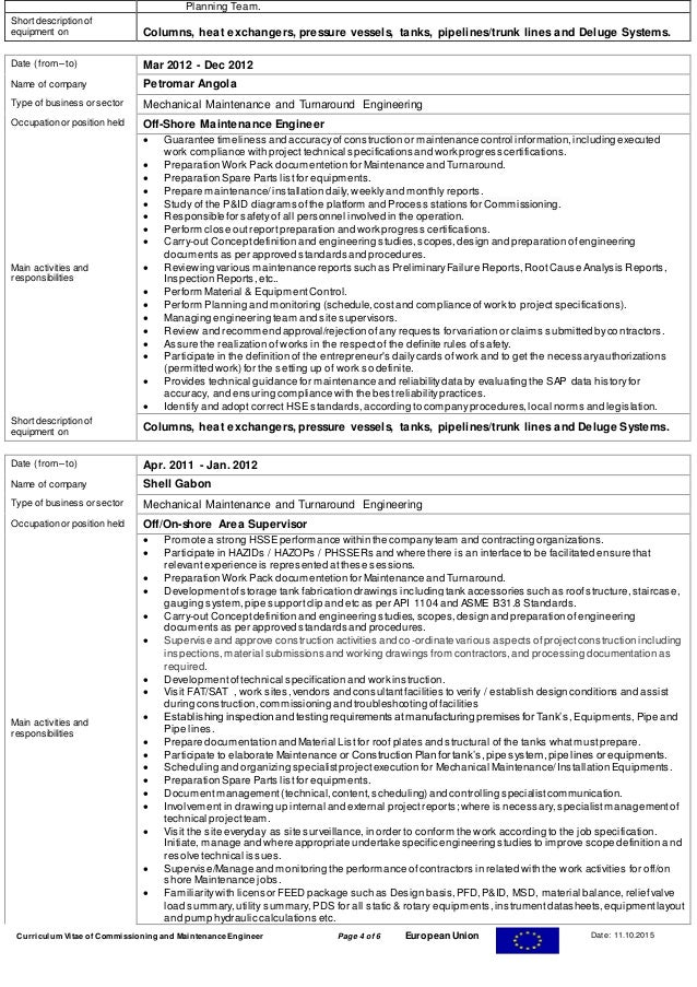cv for qc inspector mechanical rajesh resume for qa qc