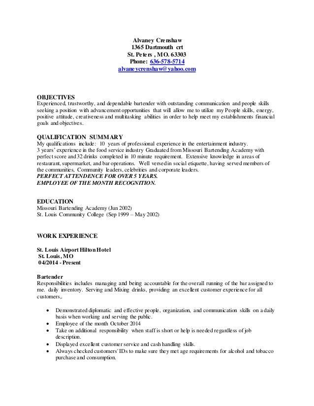 alvaney crenshaw resume