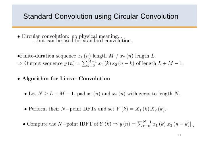 Example Of Circular Convolution 45; 46.