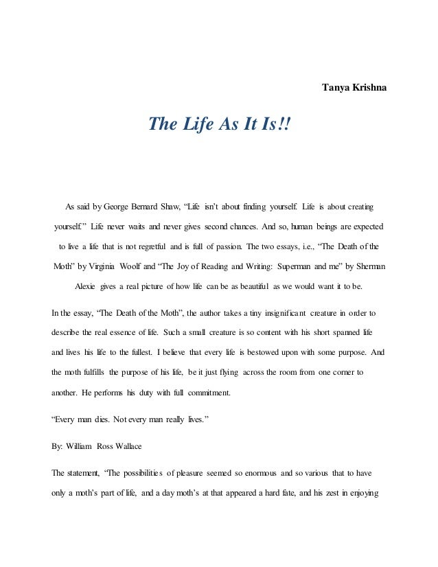 Essay On Importance Of English Language Tanya Krishna The Life As It Is As Said By George Bernard Shaw  High School Personal Statement Sample Essays also High School Entrance Essay The Life As It Is Extended Essay Topics English