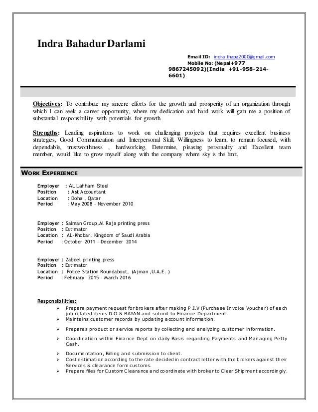 Indra Thapa-Resume