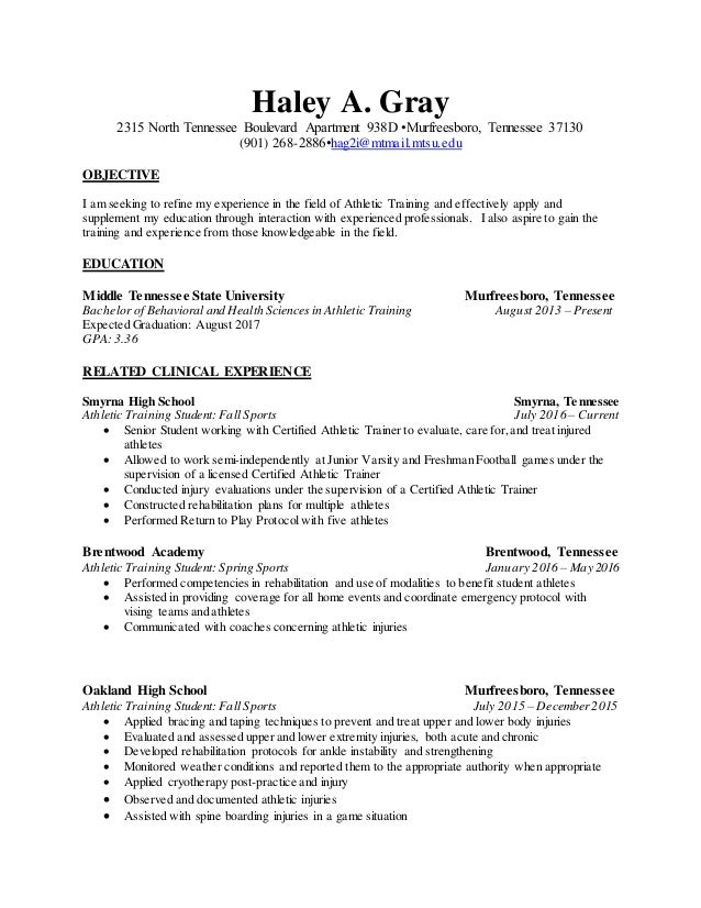 Generic Resume Atht Revised
