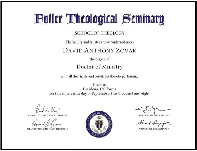 Dissertation only doctor of theology degrees online
