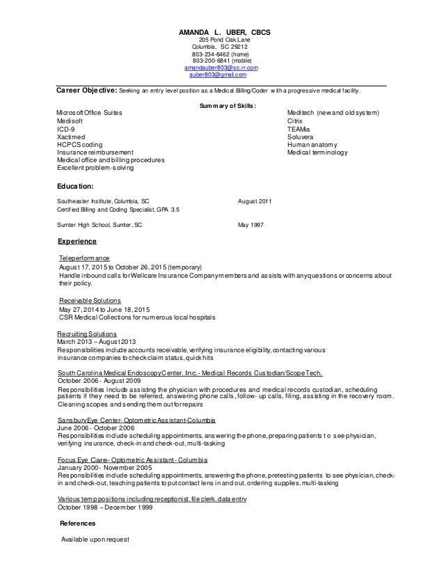 amanda uber resume
