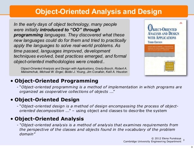 Lecture 2 Software Engineering And Design Object Oriented Programming