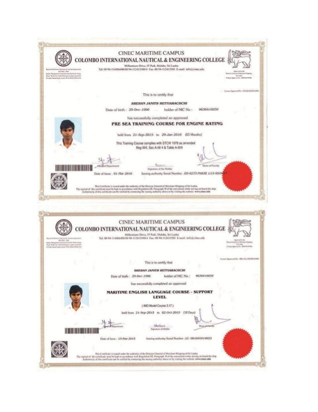 Stcw Certificate