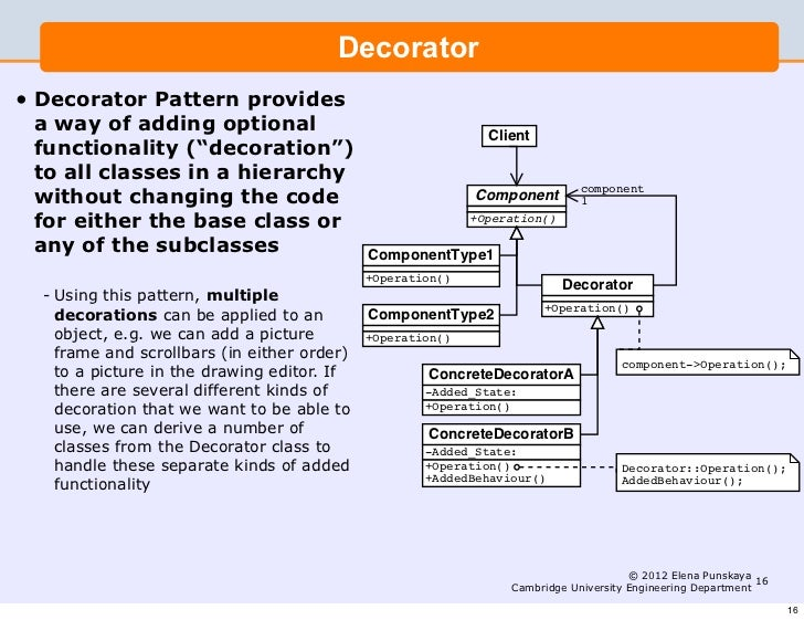 Lecture 5 Software Engineering And Design Design Patterns