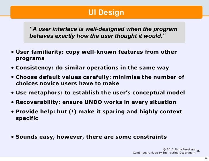 Interface Design Interface Design Model In Software Engineering