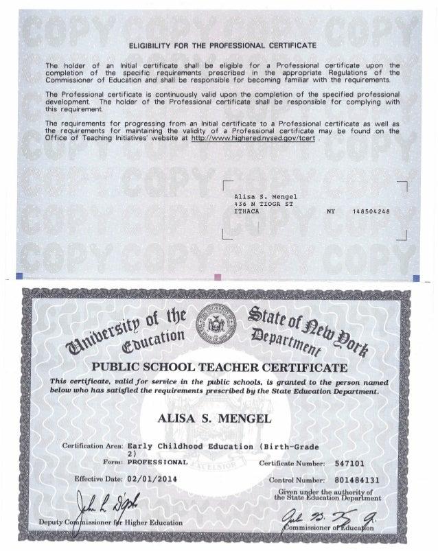 nys prof. teacher certif. (b-2) - a.m. dual