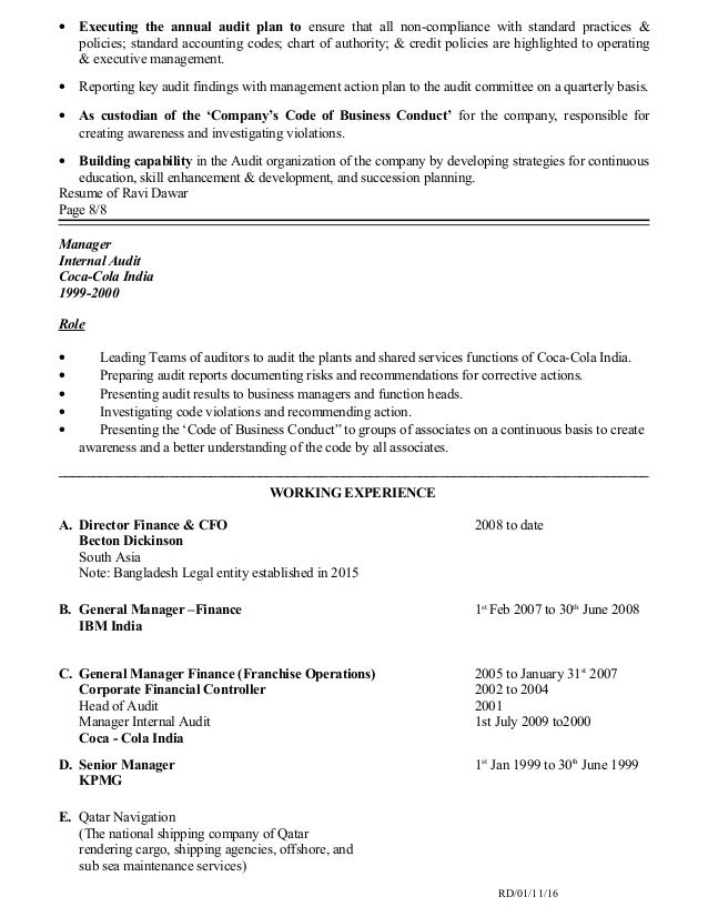 Resume For Hotel Revenue Manager Chief Operations Officer Coo Resume Example  Coo Resume