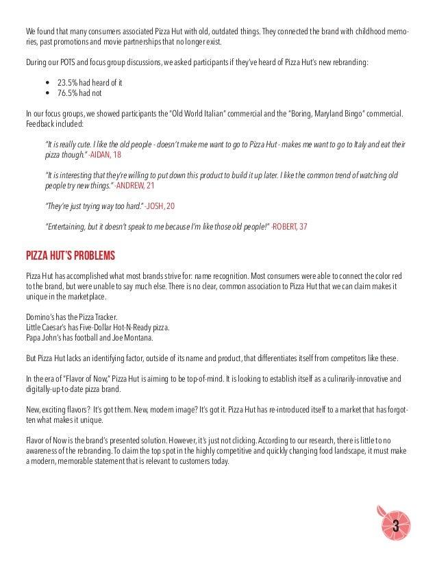 Pizza Hut Research Brief  Slide 3