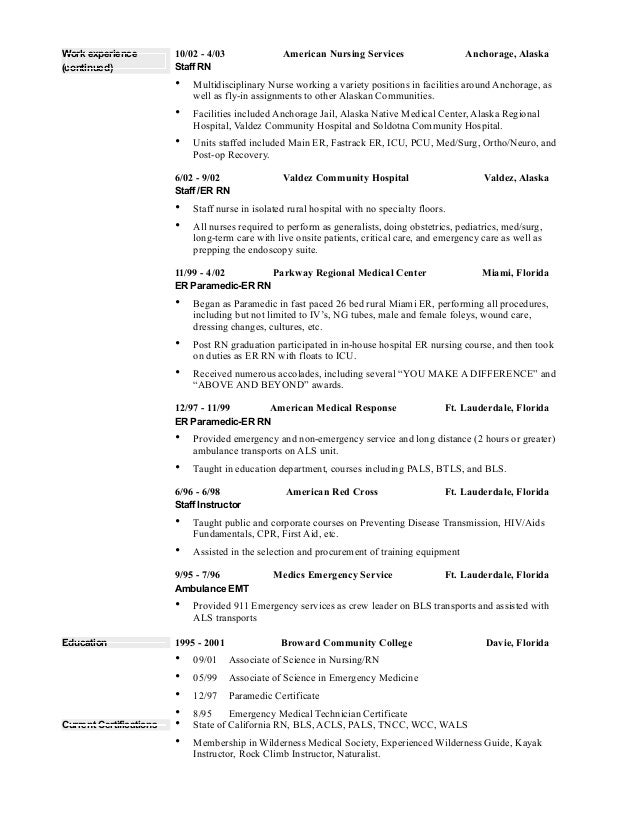 Nurse Resumes new graduate nurse resume to inspire you how to create a good resume 2 2
