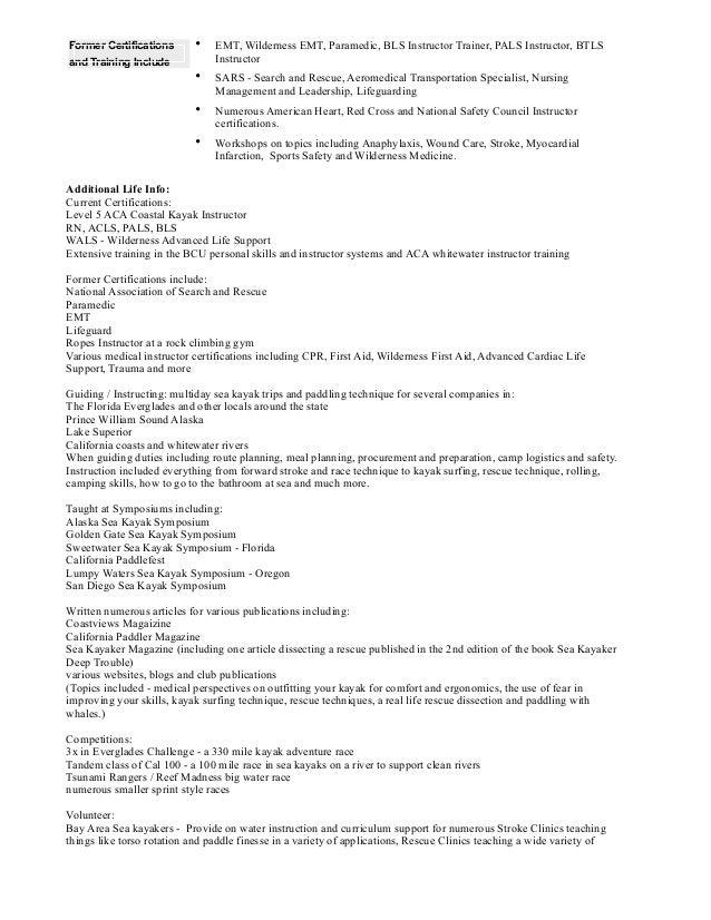 nurse resume and life info