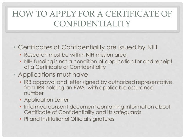 letter of confidentiality