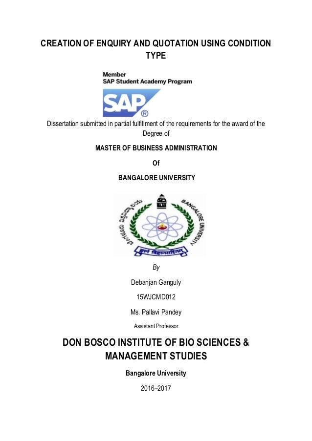 sap dissertation