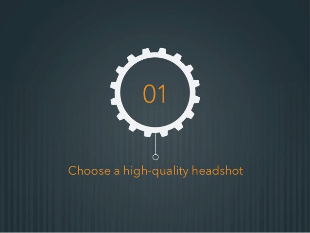 Choose a high-quality headshot 01