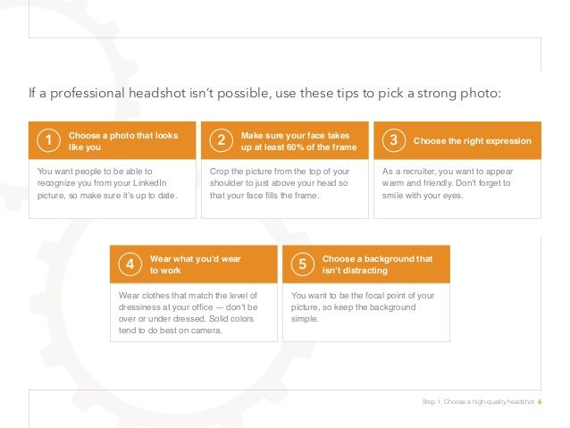 If a professional headshot isn't possible, use these tips to pick a strong photo: 1 Choose a photo that looks like you You...