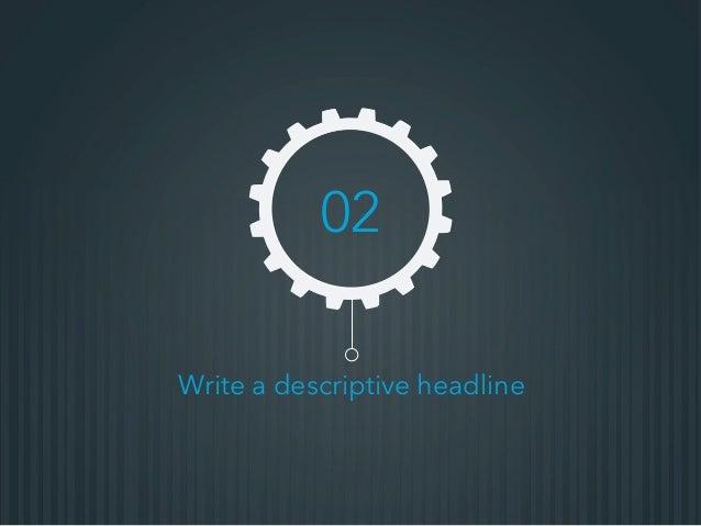Write a descriptive headline 02
