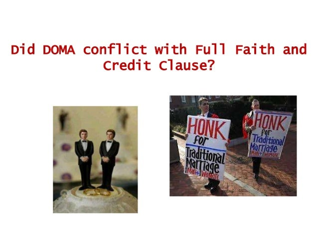 full faith and credit clause same sex marriage in Dallas