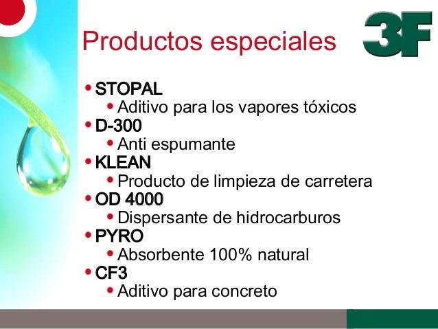 Productos especialesSTOPALAditivo para los vapores tóxicosD-300Anti espumanteKLEANProducto de limpieza de carreteraOD 4000...