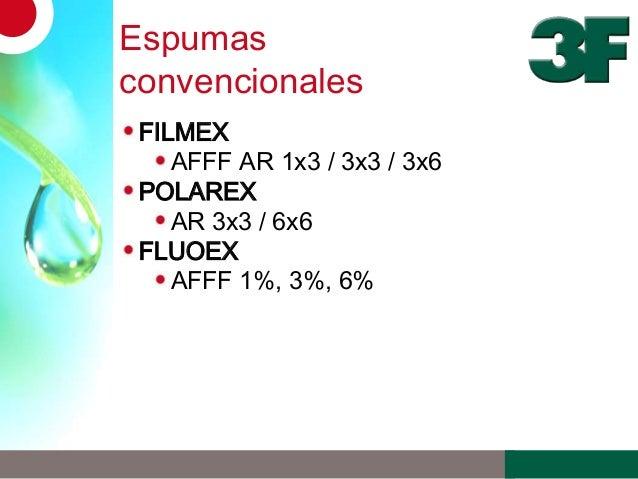 EspumasconvencionalesFILMEXAFFF AR 1x3 / 3x3 / 3x6POLAREXAR 3x3 / 6x6FLUOEXAFFF 1%, 3%, 6%