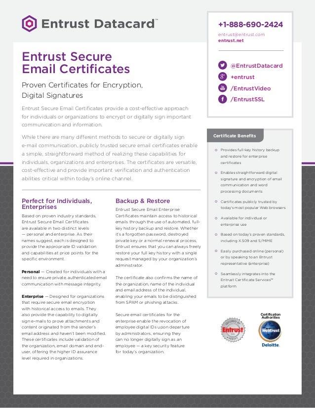 Entrust Secure Email Certsdsoct16web