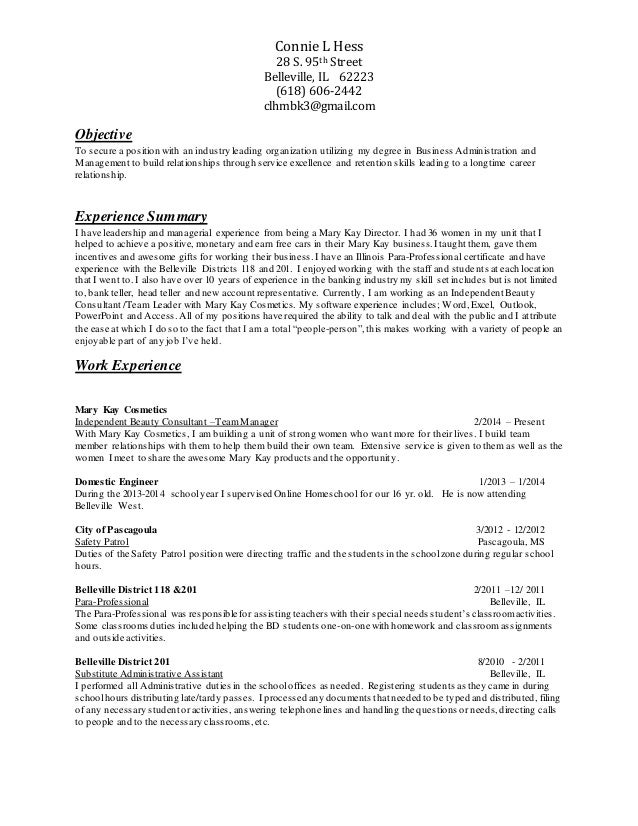 clh resume with mgmt  para  volunteer  references 111115