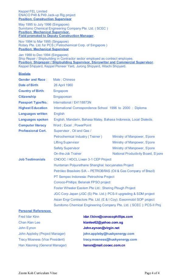 Zeonn Koh 4 page CV
