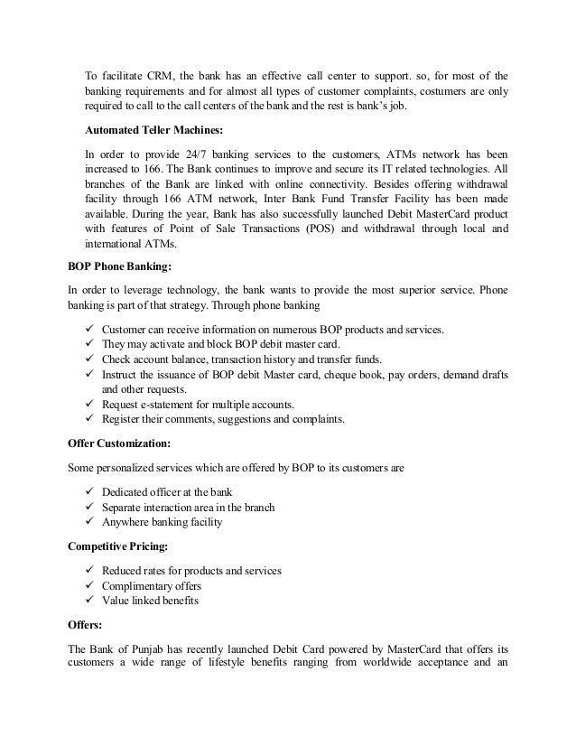 Case Study on BOP.CRM
