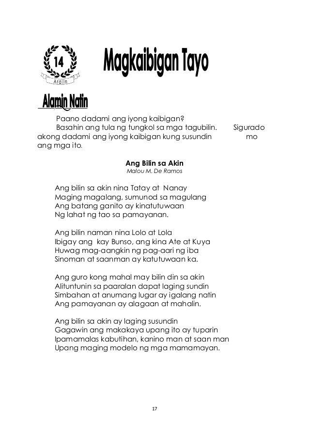 Filipino 3 Learner's Manual 2nd Quarter