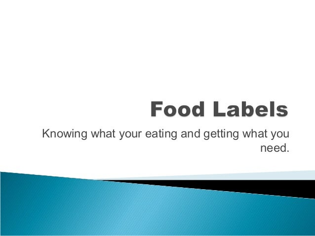 Knowing what your eating and getting what you need.